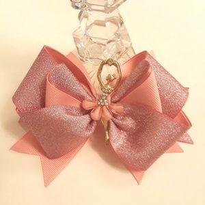 Charm hair bow